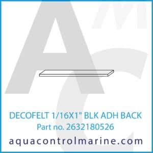 DECOFELT 1_16X1inch BLK ADH BACK