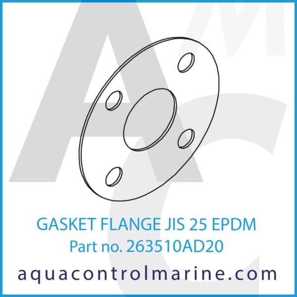 GASKET FLANGE JIS 25 EPDM