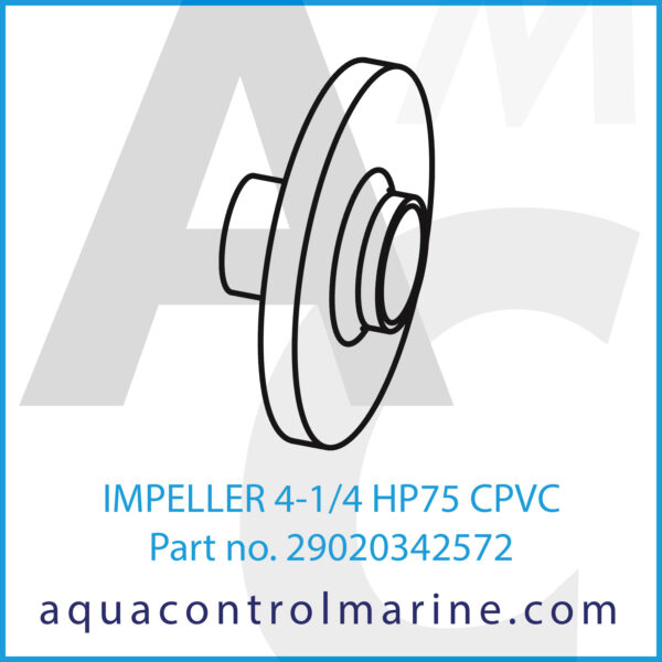 IMPELLER 4-1_4 HP75 CPVC