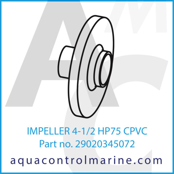IMPELLER 4-1_2 HP75 CPVC