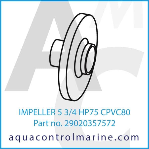 IMPELLER 5 3_4 HP75 CPVC80