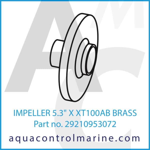 IMPELLER 5.3inch X XT100AB BRASS
