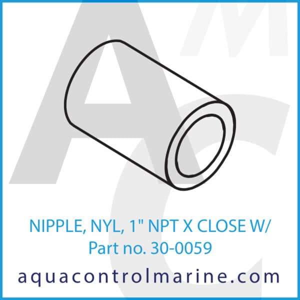 NIPPLE, NYL, 1inch NPT X CLOSE W_