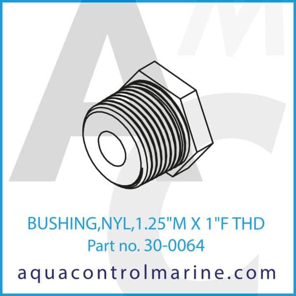 BUSHING,NYL,1.25inch M X 1inch F THD