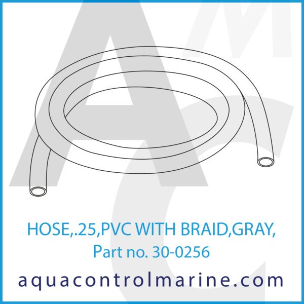 HOSE,.25,PVC WITH BRAID,GRAY,