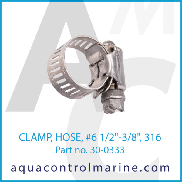 CLAMP, HOSE, no 6 1_2inch -3_8inch, 316