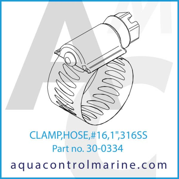 CLAMP,HOSE,16,1inch,316SS - part