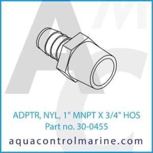 ADPTR, NYL, 1inch MNPT X 3_4inch HOS