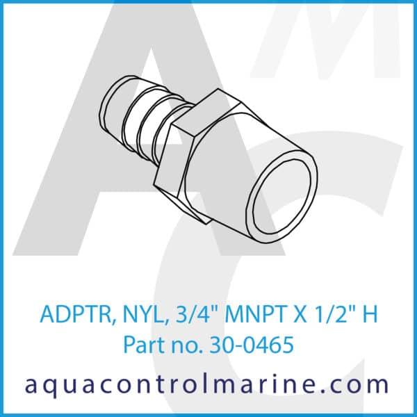 ADPTR, NYL, 3_4inch MNPT X 1_2inch H
