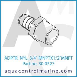 ADPTR, NYL, 3_4inch MNPTX1_2inch MNPT