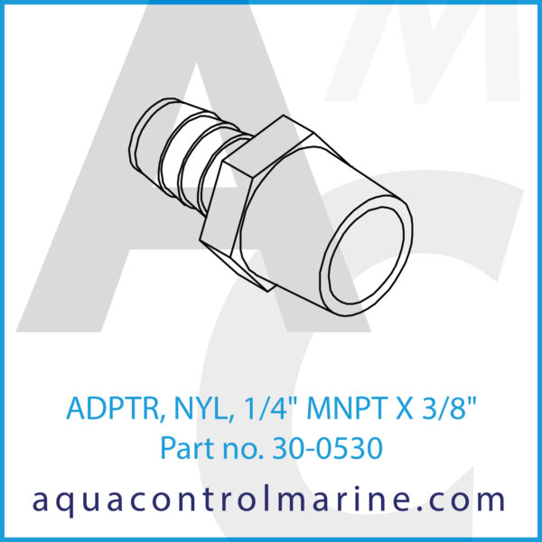 ADPTR, NYL, 1_4inch MNPT X 3_8inch