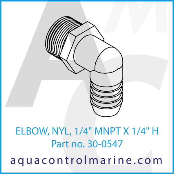 ELBOW, NYL, 1_4inch MNPT X 1_4inch H