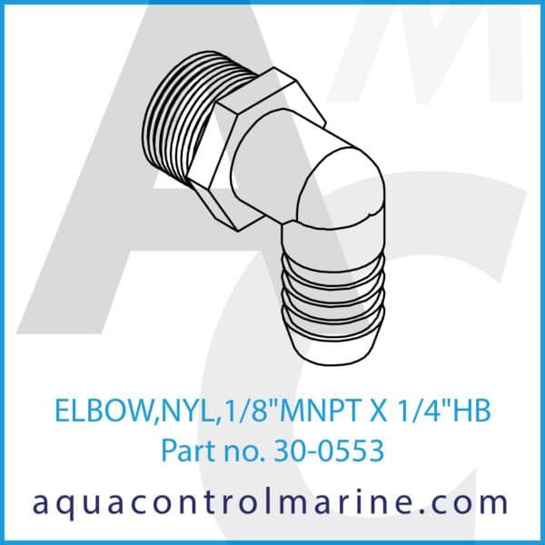 ELBOW,NYL,1_8inch MNPT X 1_4inch HB