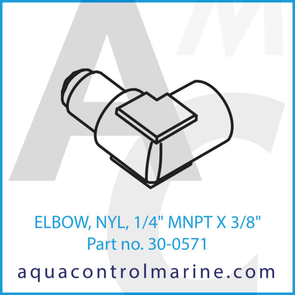 ELBOW, NYL, 1_4inch MNPT X 3_8inch