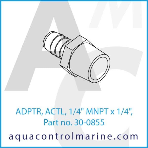 ADPTR, ACTL, 1_4inch MNPT x 1_4inch,