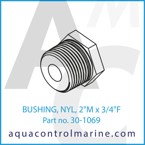 BUSHING, NYL, 2inch M x 3_4inch F