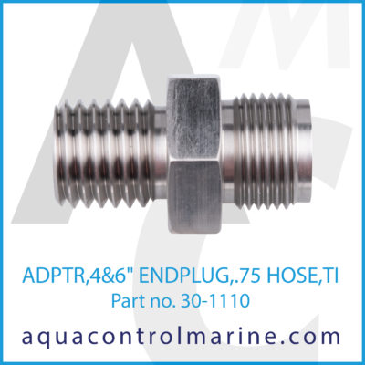 "ADPTR 4&6"" END PLUG .75 HOSE"
