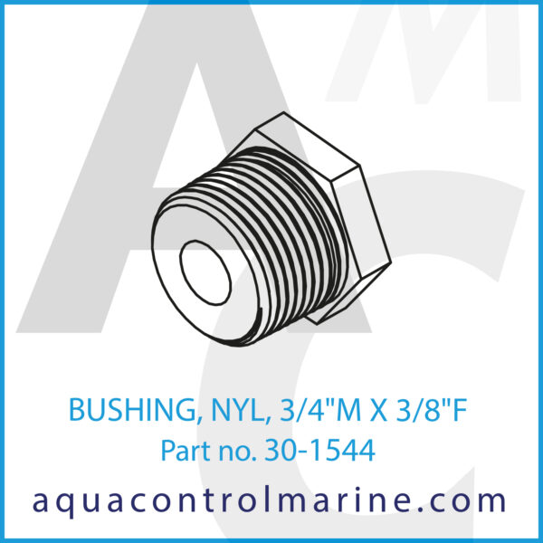 BUSHING, NYL, 3_4inch M X 3_8inch F