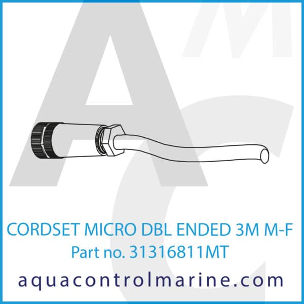 CORDSET MICRO DBL ENDED 3M M-F