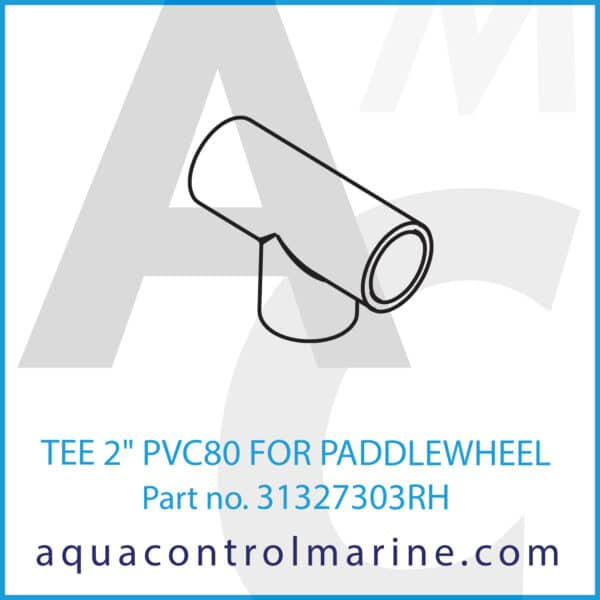 TEE 2inch PVC80 FOR PADDLEWHEEL