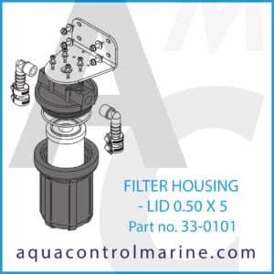 FILTER HOUSING - LID 0.50 X 5