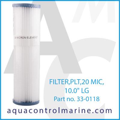 FILTER PLT 20 MIC 10.0inch LG filter