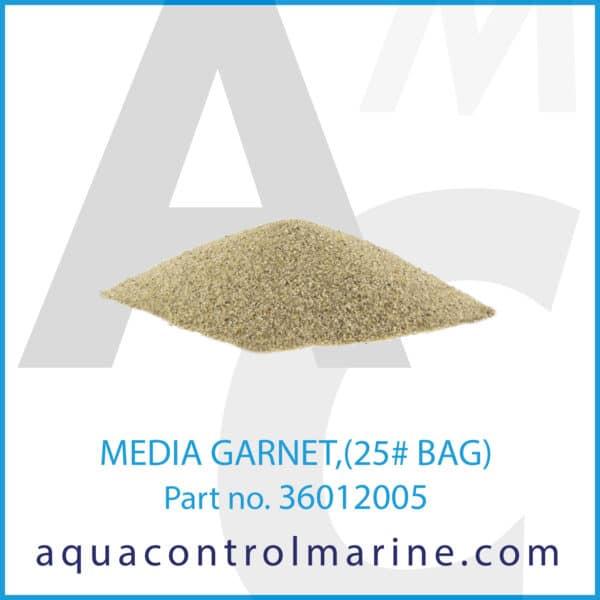 MEDIA GARNET,(25# BAG)