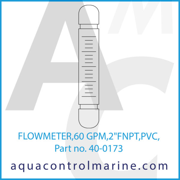 FLOWMETER,60 GPM,2inchFNPT,PVC,