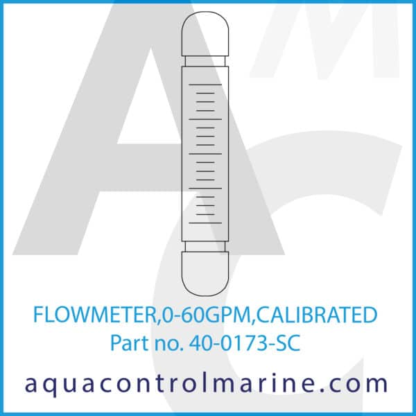 FLOWMETER,0-60GPM,CALIBRATED