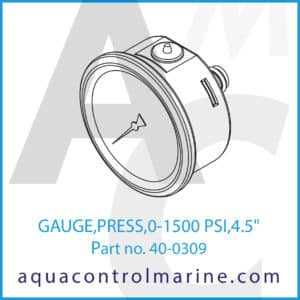 GAUGE,PRESS,0-1500 PSI,4.5inch