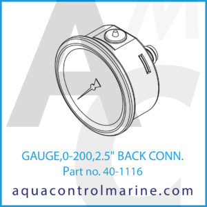 GAUGE,0-200,2.5inch BACK CONN