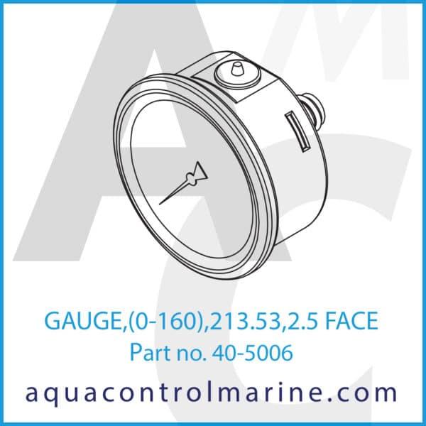 GAUGE,(0-160),213.53,2.5 FACE