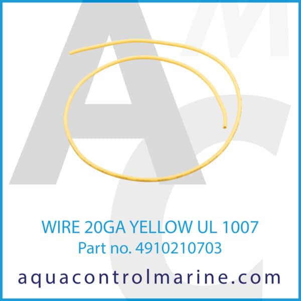 WIRE 20GA YELLOW UL 1007