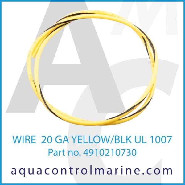WIRE 20 GA YELLOW_BLK UL 1007