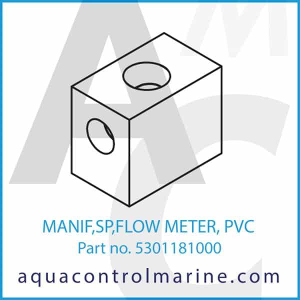 MANIF,SP,FLOW METER, PVC
