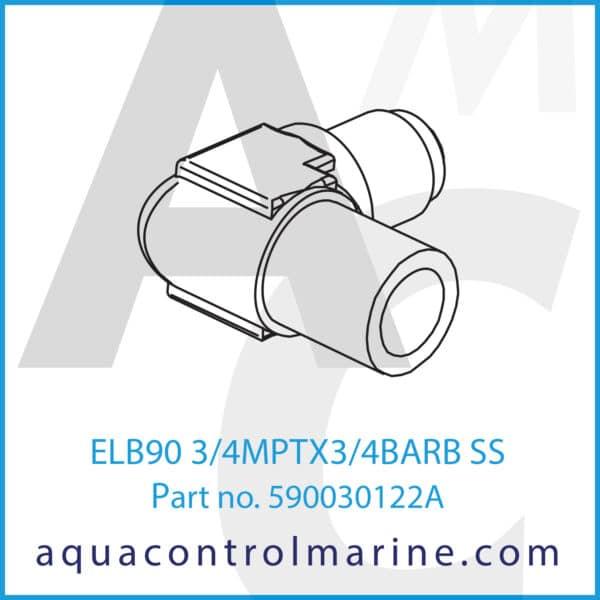 ELB90 3_4MPTX3_4BARB SS