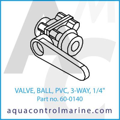 "VALVE BALL PVC 3-WAY 1/4"" FNPT"