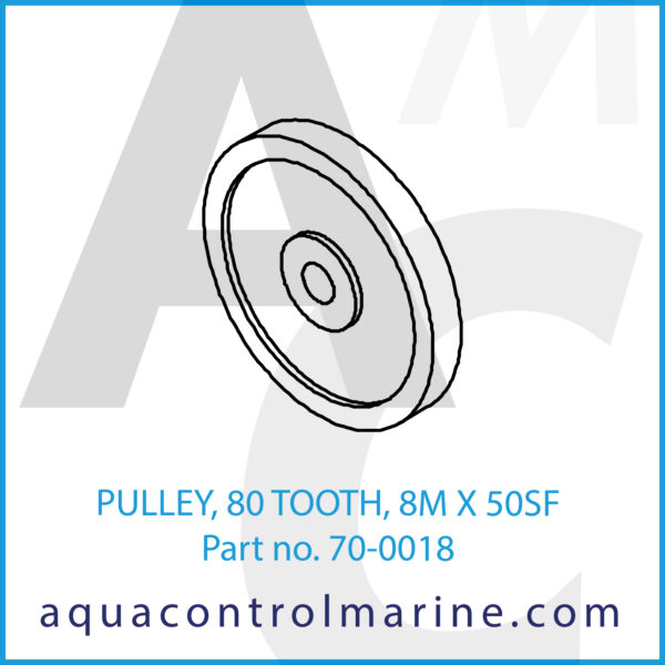 PULLEY, 80 TOOTH, 8M X 50SF
