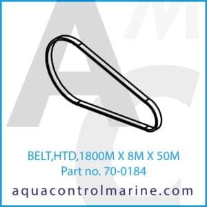 BELT,HTD,1800M X 8M X 50M