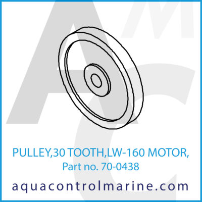 """PULLEY 30 TOOTH LW-160 MOTOR 1/2"""" BORE"""