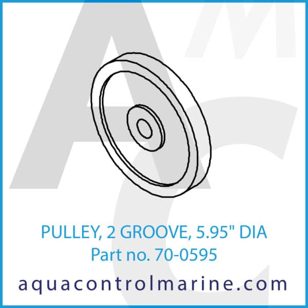 PULLEY, 2 GROOVE, 5.95inch DIA
