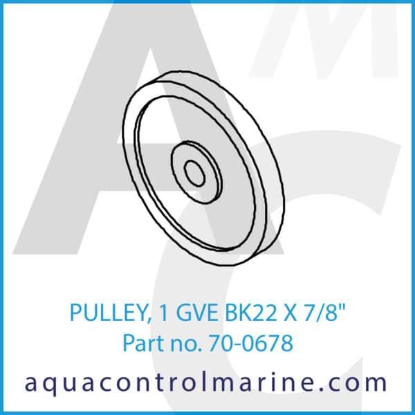 PULLEY, 1 GVE BK22 X 7_8inch