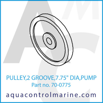 "PULLEY 2 GROOVE 7.75"" DIA PUMP"