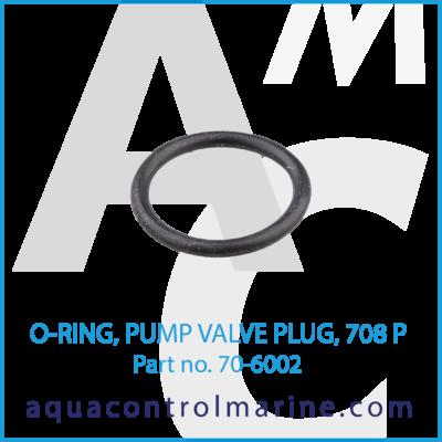 O-RING PUMP VALVE PLUG 708