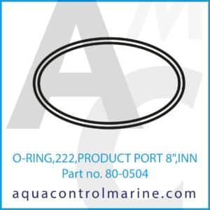 O-RING,222,PRODUCT PORT 8inch ,INN