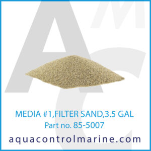 MEDIA #1,FILTER SAND,3.5 GAL
