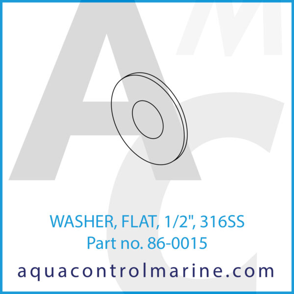 WASHER, FLAT, 1_2inch , 316SS