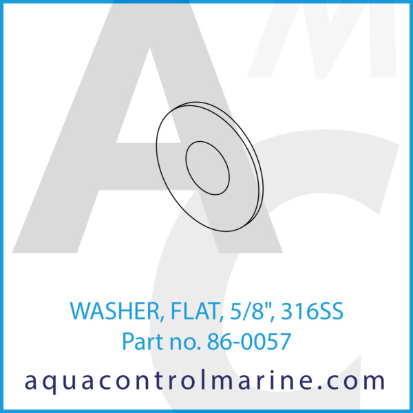 WASHER, FLAT, 5_8inch , 316SS