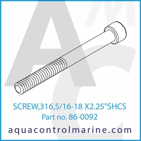 SCREW,316,5_16-18 X2.25 inch SHCS