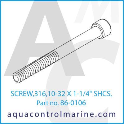 "SCREW 316 10-31 X 1-1/4"" SHCS"